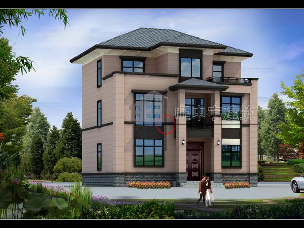三层小户型新农村别墅设计,新农村别墅自建房外观效果图