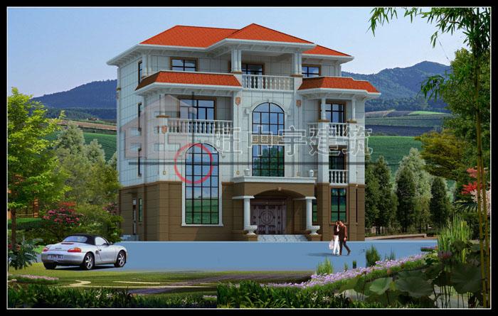 欧式农村别墅自建房带内装修设计