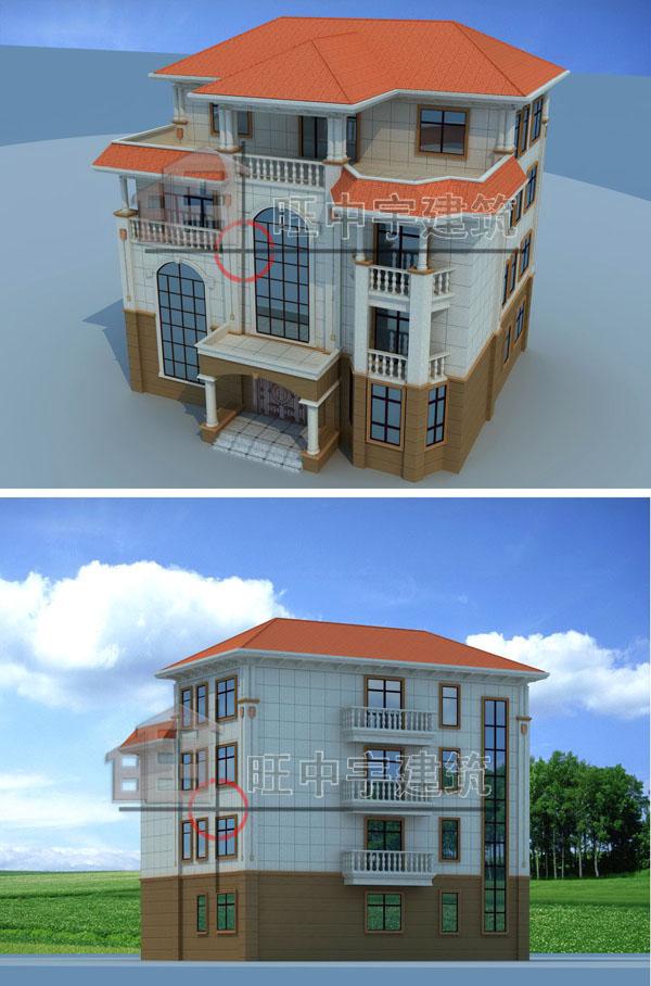 欧式农村别墅自建房带内装修设计效果图