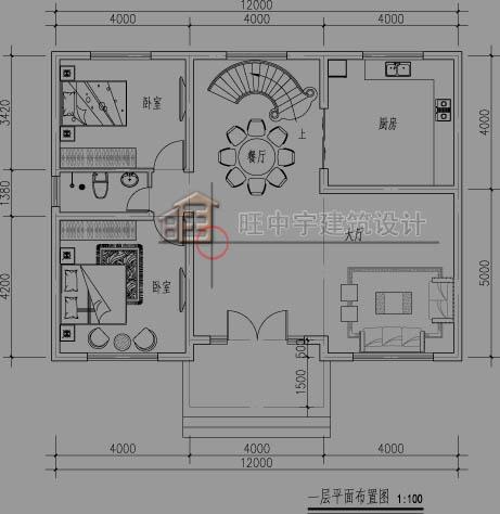 别墅设计图一层平面图