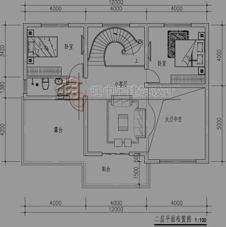 别墅设计图二层平面图