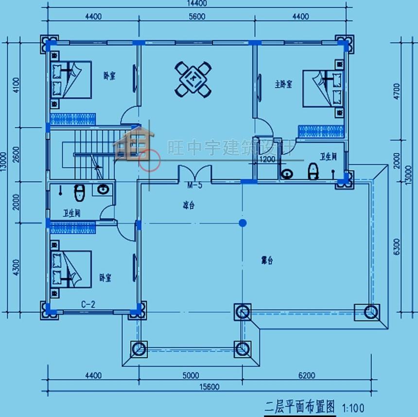 农村别墅款式三层设计图纸三层平面图