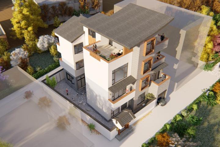 公司设计师,地产自对接设计,建房房屋设计,设计院与农村流程定制别墅图片