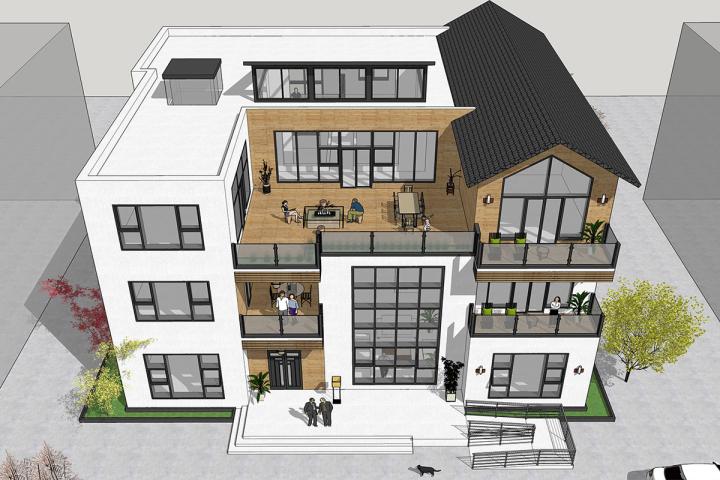 别墅设计师,农村自建房设计,定制标准设计,节能设计浙江公共房屋建筑图片