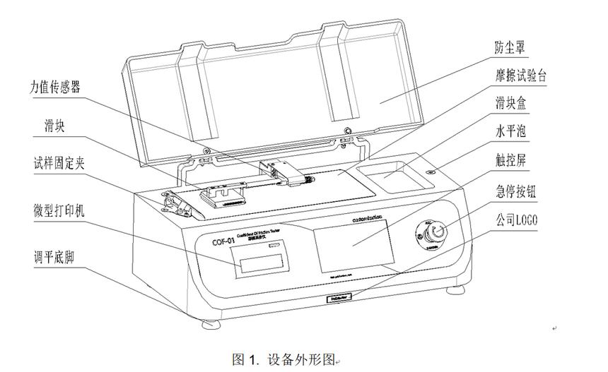 薄膜摩擦系数测试仪外形图