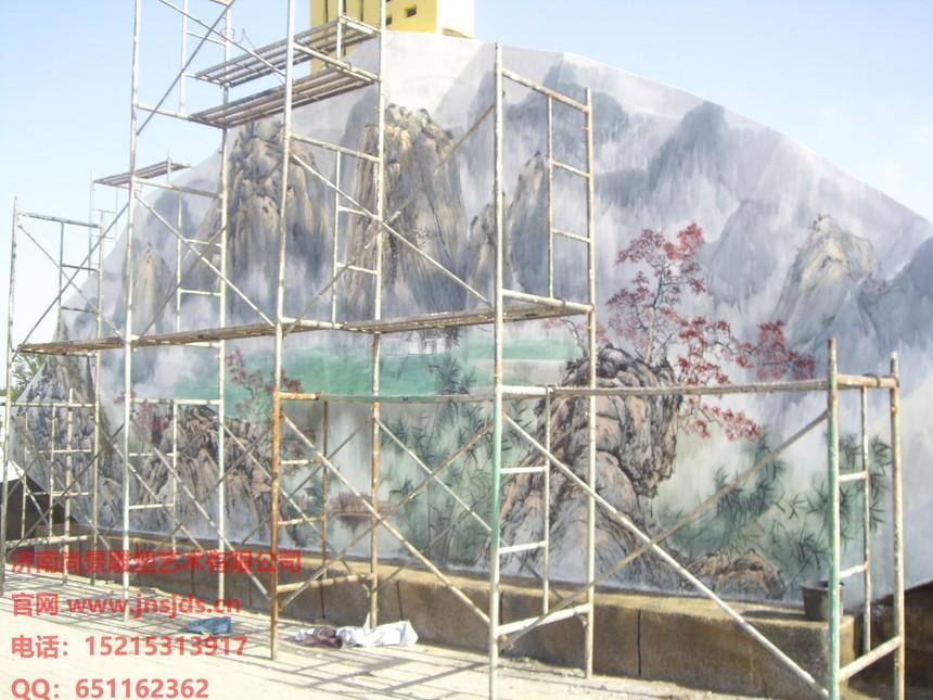 德州扇子墙绘景观雕塑.JPG