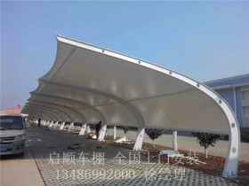 设计安装白色帆布的车棚厂家