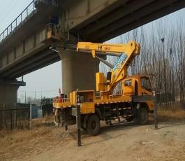 高铁桥下施工