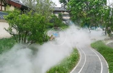 四川都江堰万达酒店喷雾造景项目