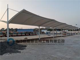 贵州毕节汽车站公交车充电膜结构雨棚安装完毕