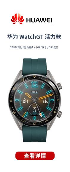 華為 WatchGT 活力款 (GTNFC支付 運動計步 心率 防水 GPS定位)
