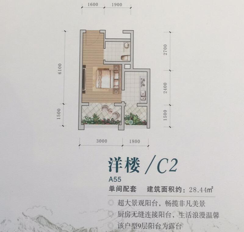 九坝生态度假区户型C2