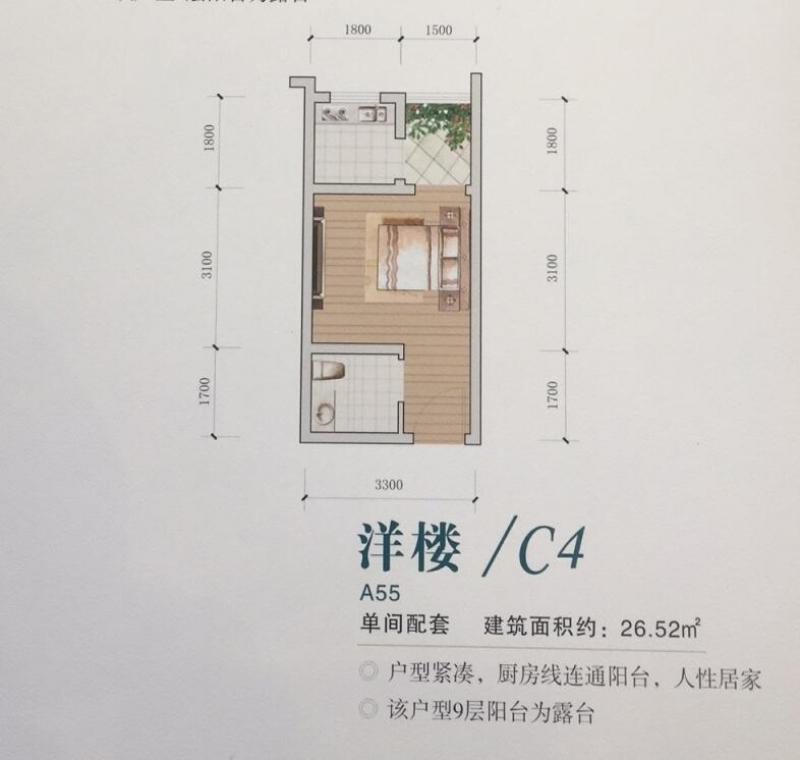 九坝生态度假区户型C4