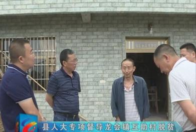 视频|县人大专项督导龙会镇互助村脱贫攻坚工作