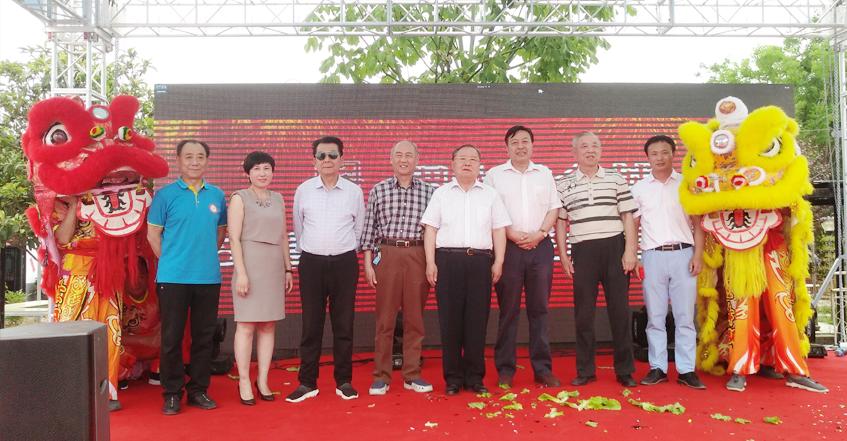 河南省龙乡商会参加稷水生态园故事驴餐厅开业庆典