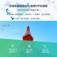 日语零基础直达N2全程VIP长线班(针对2018年7月考试)