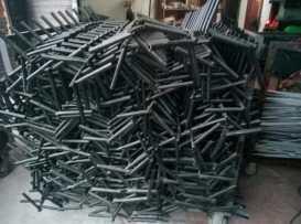 不锈钢挂具处理前后对照