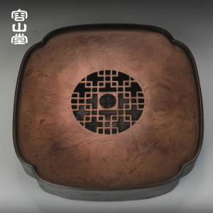 容山堂茗仕 纯铜干泡台茶盘 储水小茶台壶