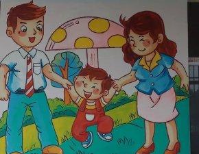 幼儿园墙体绘画2