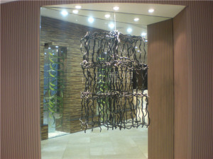 酒店大堂木雕装饰品