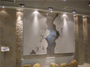 酒店大堂艺术装置石材浮雕