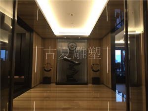外滩酒店会所室内大堂铸铜雕塑艺术品摆件