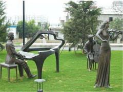 校园玻真有缘璃钢雕塑