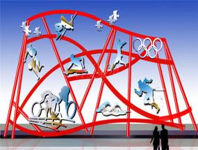 上海校园体育学院雕塑设计案例