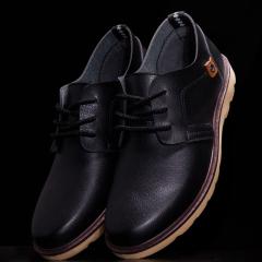 男鞋春季男士黑色商務休閑小皮鞋英倫風潮鞋青年正裝皮鞋子男百搭