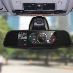 后視鏡導航行車記錄儀帶電子狗前后雙鏡頭高清夜視倒車影像一體機