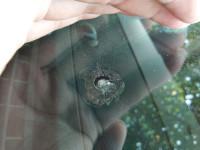 汽车玻璃短小裂缝修补后的效果