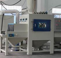 平面类输送式自动喷砂机