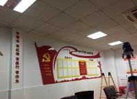 海南学校党建文化墙安装
