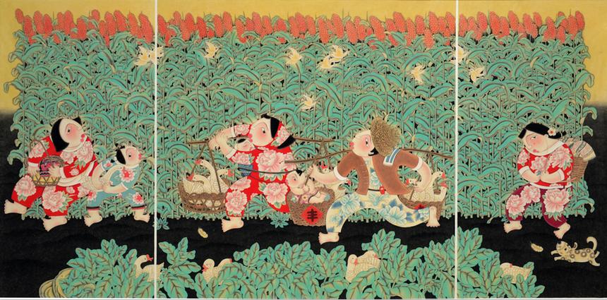 《红高粱》入选第十三届全国美展,获进京作品展.png