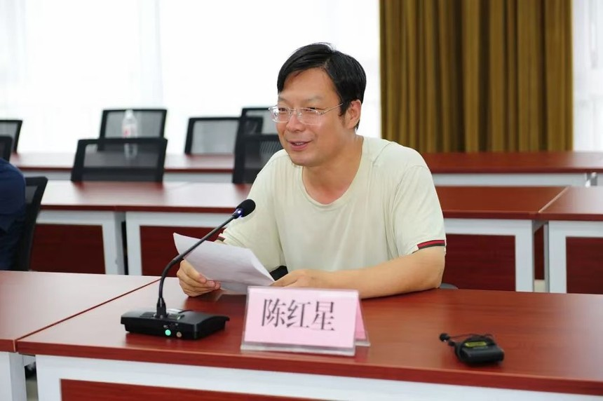 """2021年7月25日,陈红星在 """"张俊彪文学创作与文学馆资料片录制对话会″上发言.jpg"""