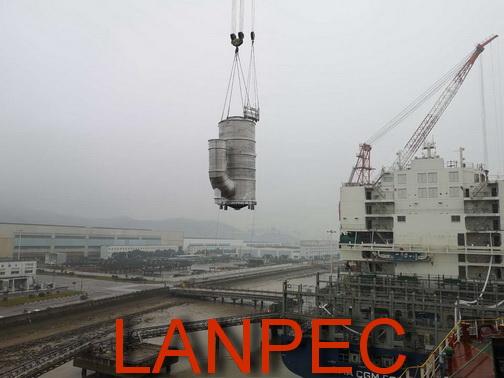 01蓝科高新设计制造供货的船用烟气硫塔成功试航.JPG