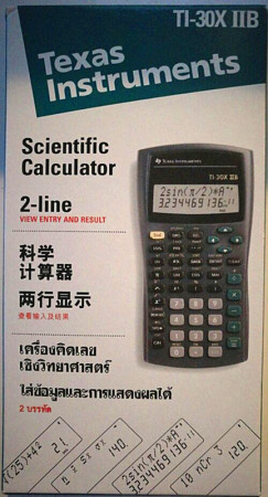 德州仪器Texas Instruments TI-30XIIB 好科学函数计算器 正品