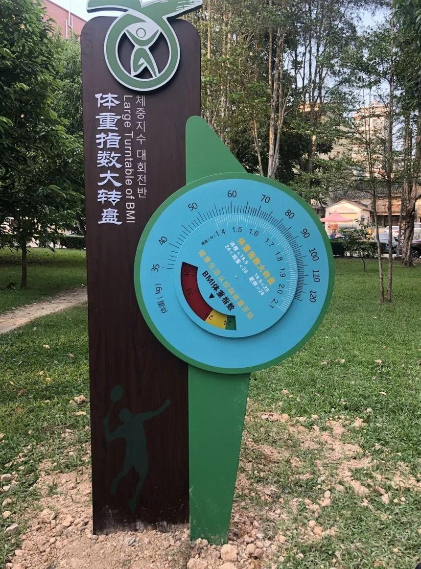 健康主题公园标识
