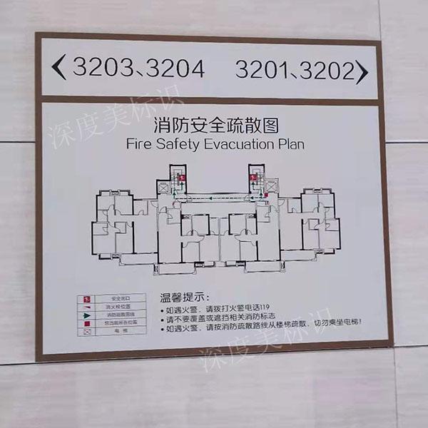 楼层消防警示标识