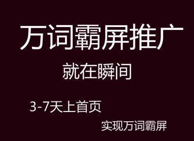 重庆全网霸屏关键词速上首页,值得你一试