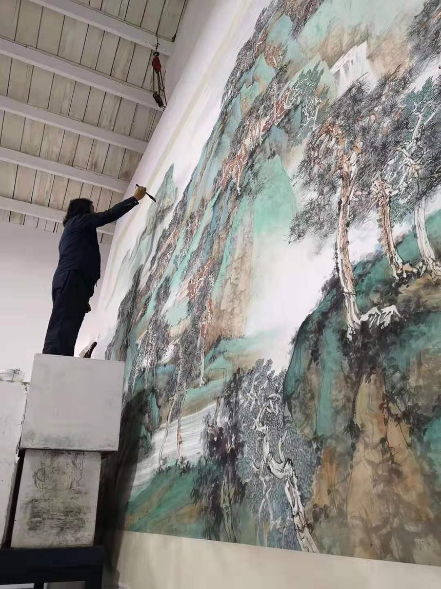 中国画《山高水长》04.jpg