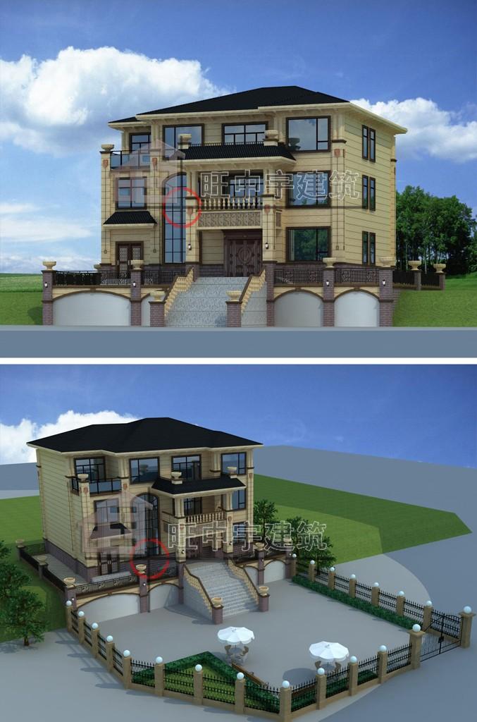 农村三层豪华别墅带地下室设计图