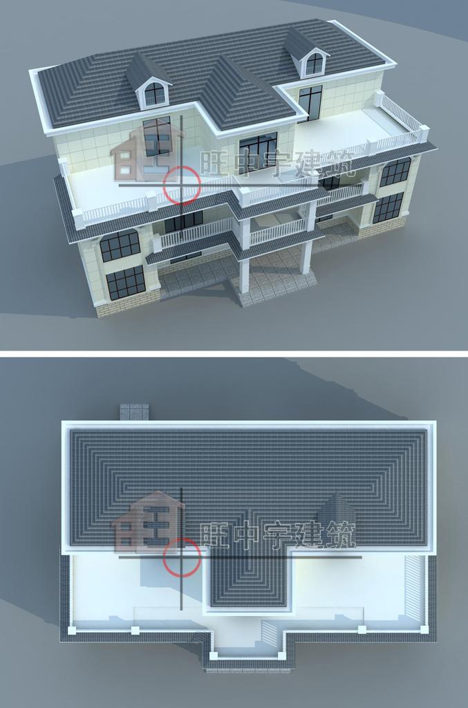 大气三层带阳台小别墅
