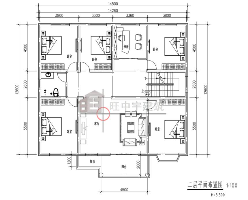 农村别墅设计图二层平面图