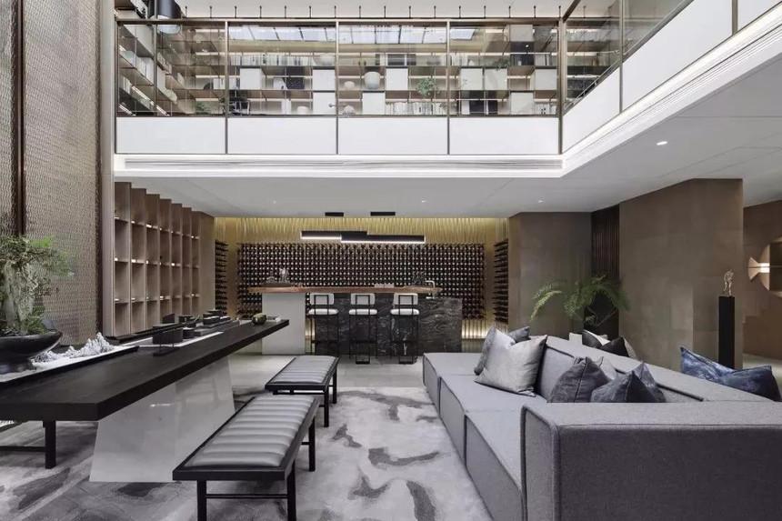 中式联体三层农村别墅设计客厅参考图