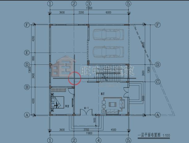 广东别墅一层平面图