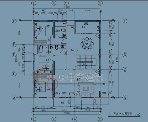 广东别墅二层平面图