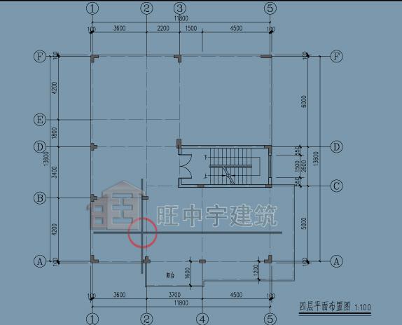 广东别墅顶层平面图