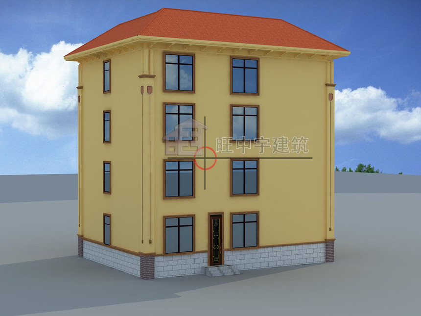 农村别墅设计四层效果图后立面效果图