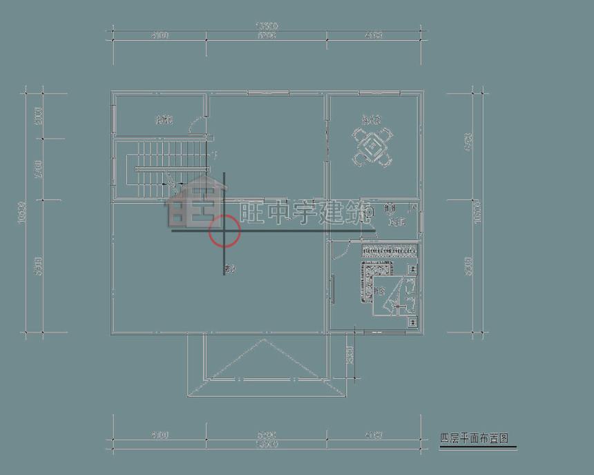 农村别墅设计四层平面图